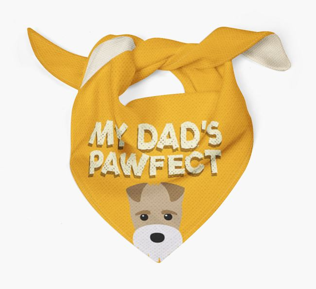 'My Dad's Pawfect' - Personalised Fox Terrier Bandana