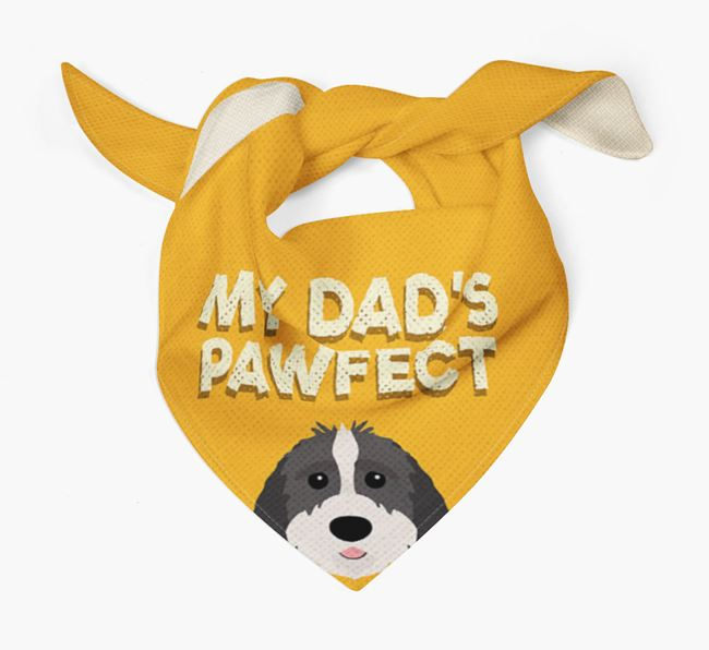 'My Dad's Pawfect' - Personalised Sproodle Bandana