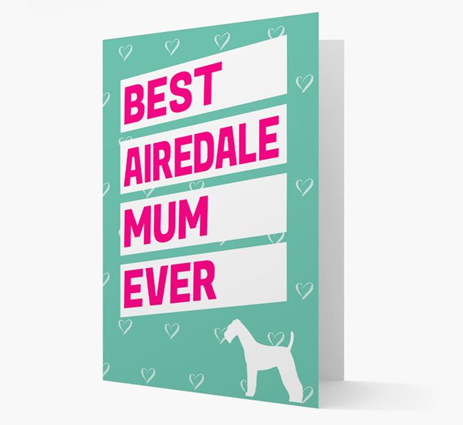 Best Mum Ever Card with Airedale Icon