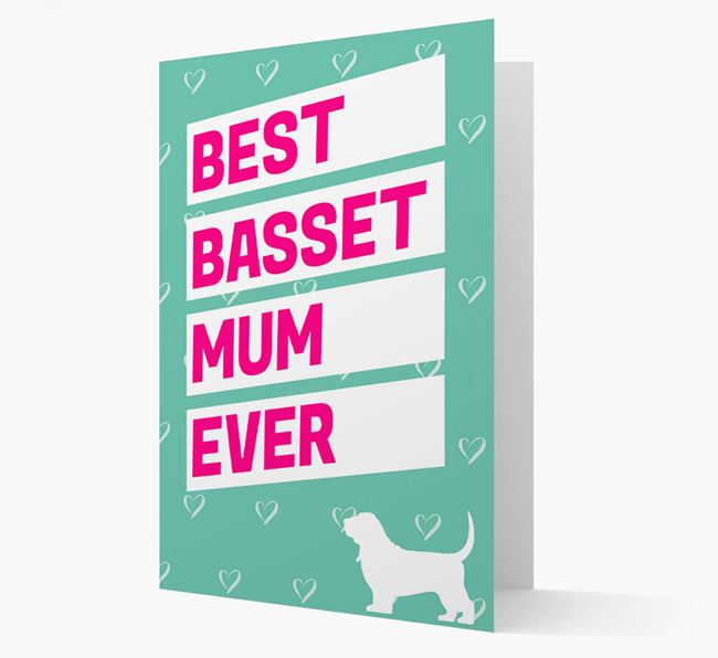 'Happy Mother's Day' Card with Basset Hound Icon