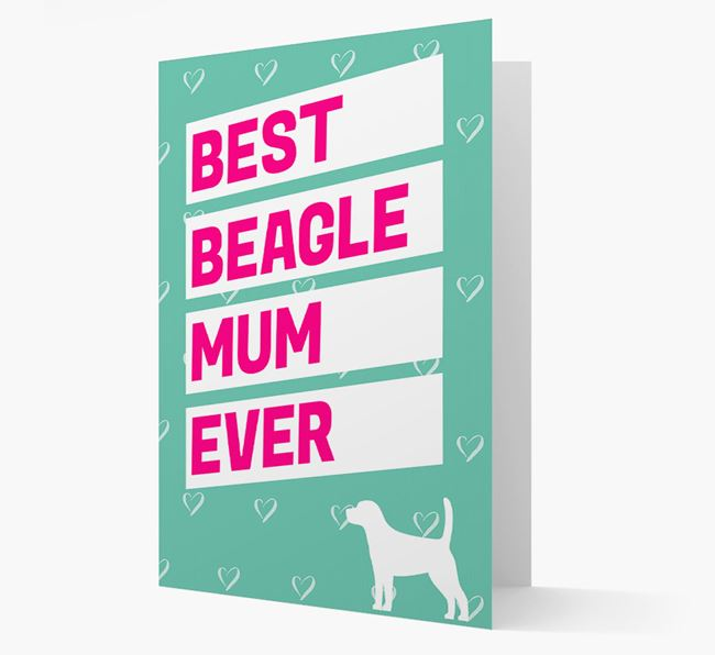 'Happy Mother's Day' Card with Beagle Icon