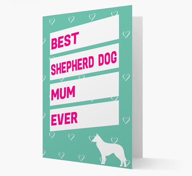 'Happy Mother's Day' Card with Belgian Shepherd Icon