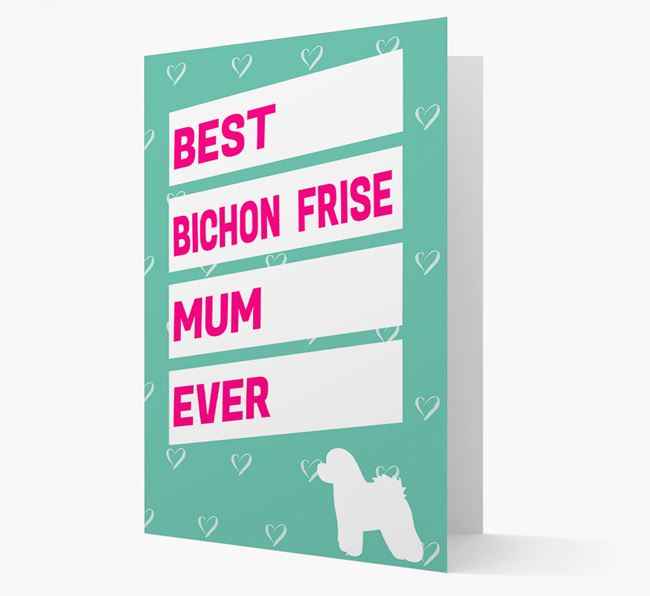'Happy Mother's Day' Card with Bichon Frise Icon