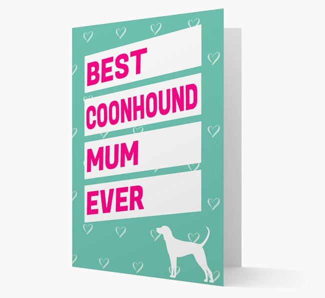 'Happy Mother's Day' Card with Coonhound Icon