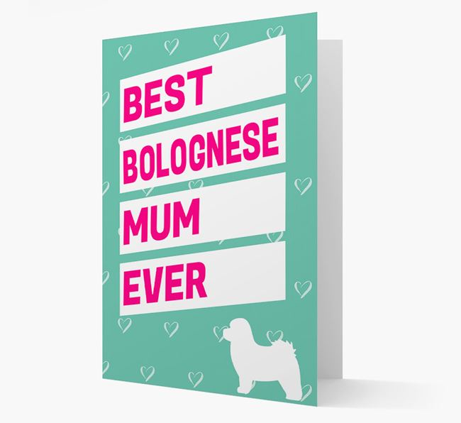 'Happy Mother's Day' Card with Bolognese Icon