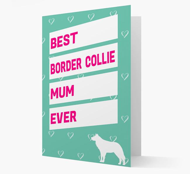 'Happy Mother's Day' Card with Border Collie Icon