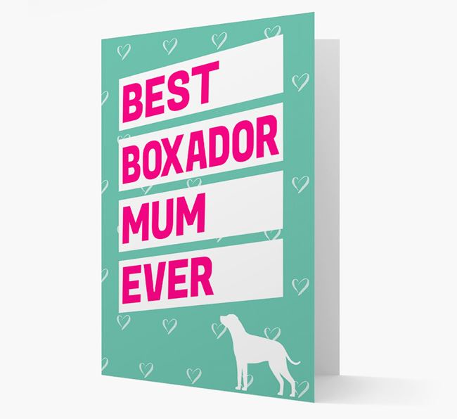 'Happy Mother's Day' Card with Boxador Icon