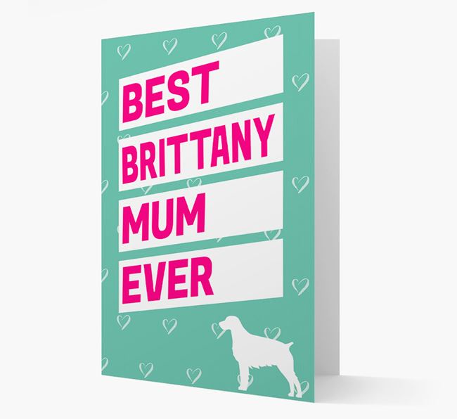 'Happy Mother's Day' Card with Brittany Spaniel Icon