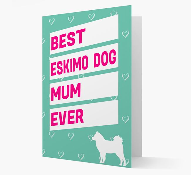 'Happy Mother's Day' Card with Eskimo Dog Icon