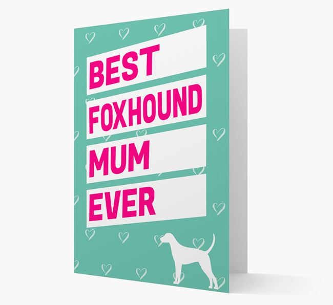 'Happy Mother's Day' Card with Foxhound Icon