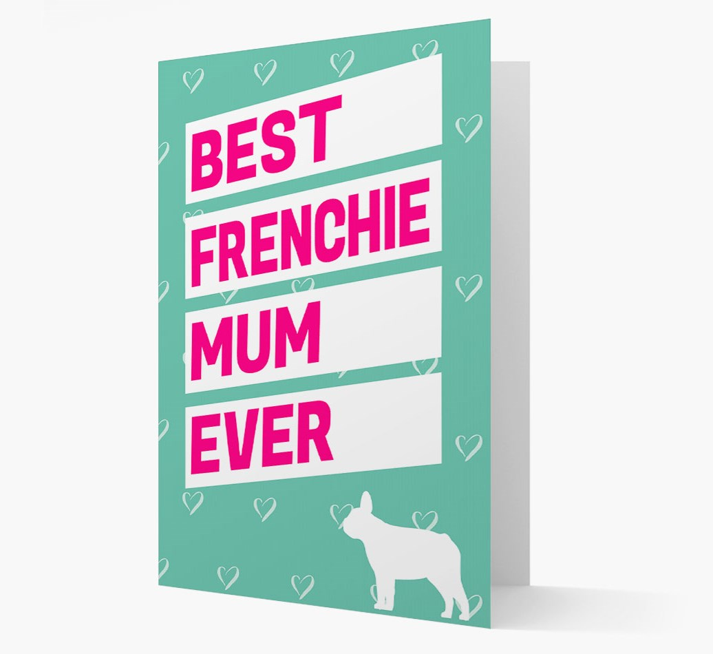 Card 'Best Frenchie Mum Ever' with French Bulldog Silhouette