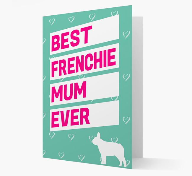 'Happy Mother's Day' Card with Frenchie Icon