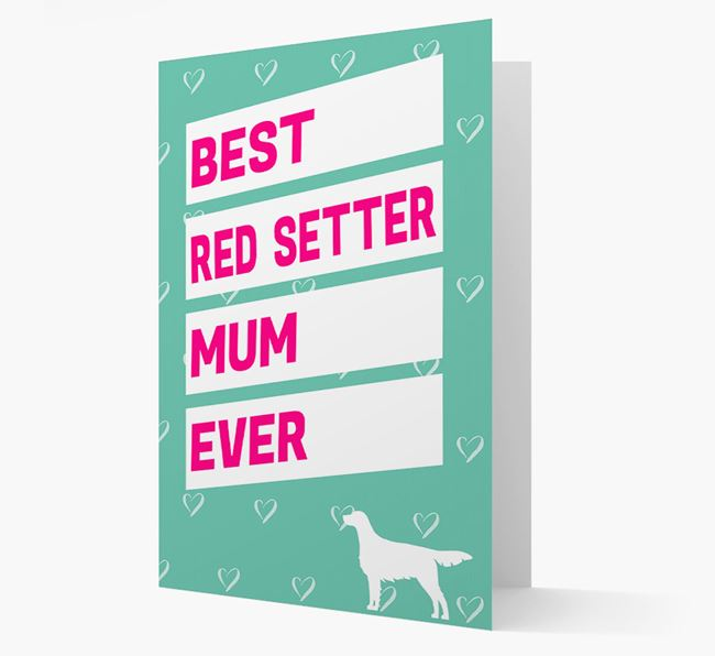 'Happy Mother's Day' Card with Irish Setter Icon