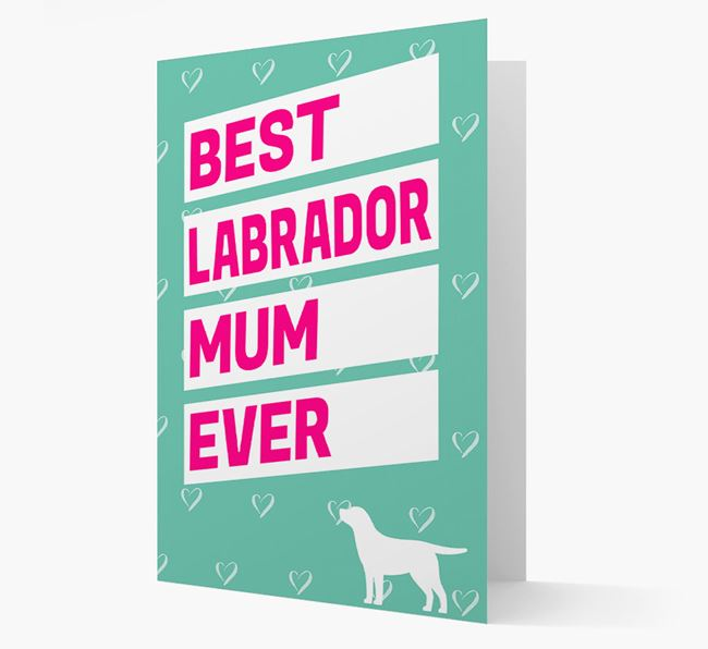 'Happy Mother's Day' Card with Dog Icon