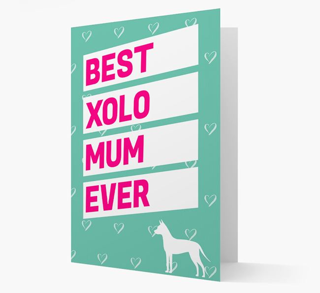 'Happy Mother's Day' Card with Mexican Hairless Icon