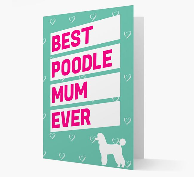 'Happy Mother's Day' Card with Poodle Icon