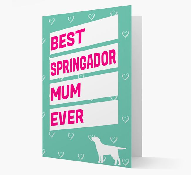 'Happy Mother's Day' Card with Springador Icon
