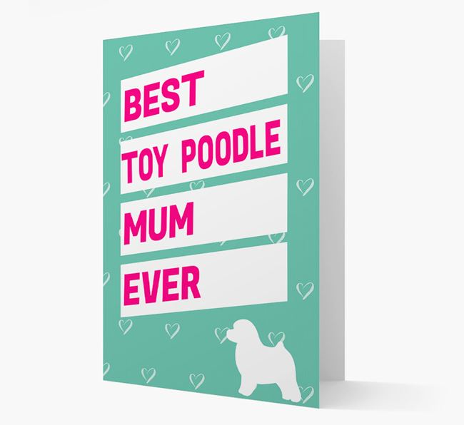 'Happy Mother's Day' Card with Toy Poodle Icon