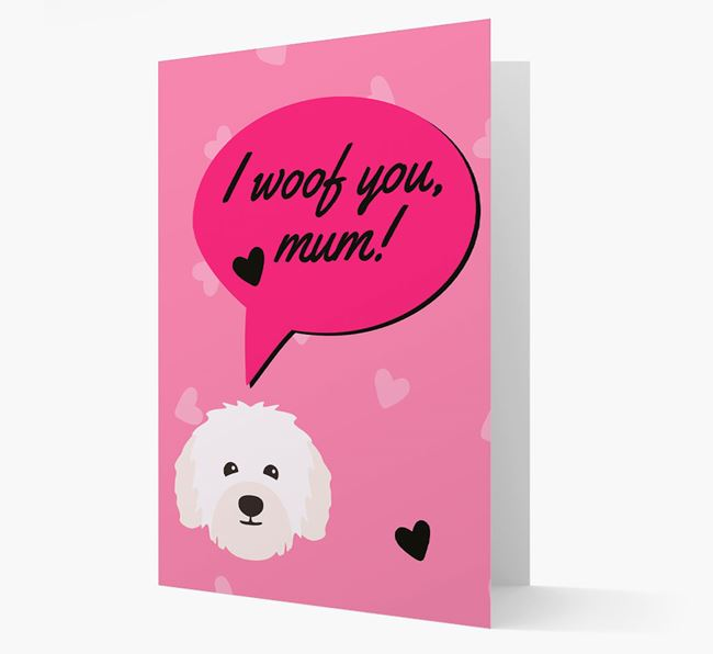 'I woof you, mum!' Card with Bolognese Icon
