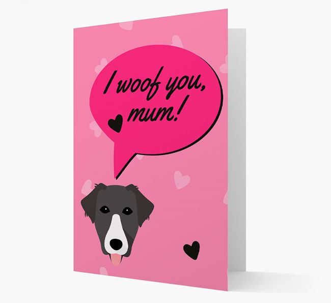 'I woof you, mum!' Card with Borador Icon