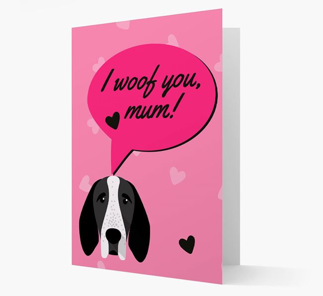 'I woof you, mum!' Card with Auvergne Icon