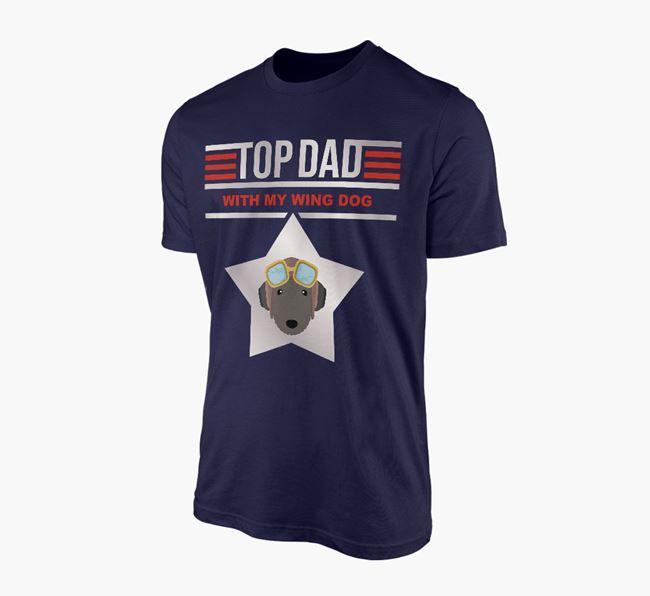 'Top Dad' - Personalised Bedlington Terrier Adult T-shirt