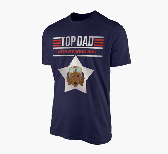 'Top Dad' - Personalised Dachshund Adult T-shirt