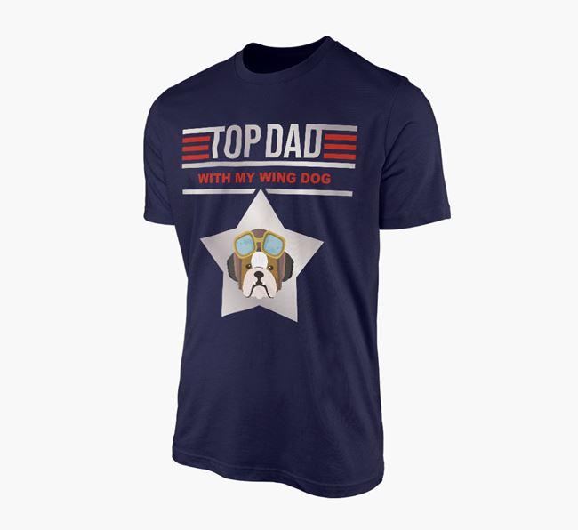 'Top Dad' - Personalised English Bulldog Adult T-shirt