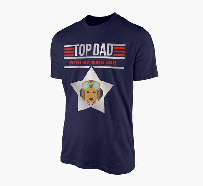 'Top Dad' - Personalised Golden Retriever Adult T-shirt