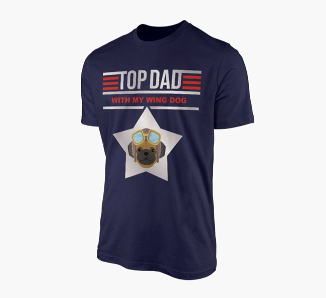 'Top Dad' - Personalised Pug Adult T-shirt