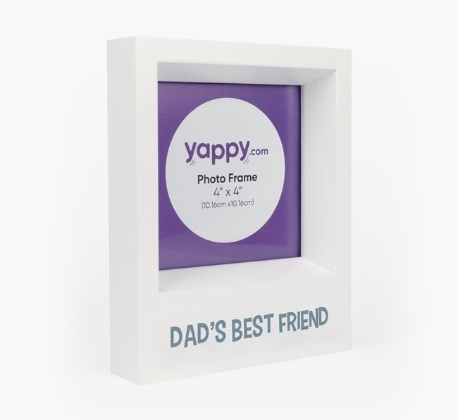 'Dad's Best Friend' - Personalised Cat Photo Frame