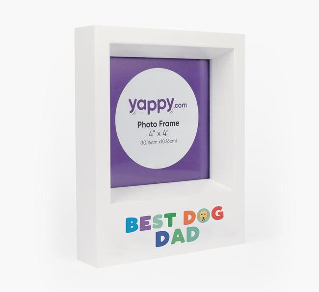 'Best Dog Dad' - Personalised Golden Retriever Photo Frame