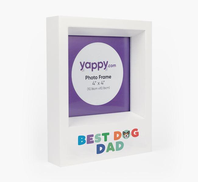 'Best Dog Dad' - Personalised Pembroke Welsh Corgi Photo Frame