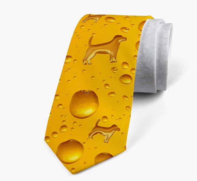 Beer Bubbles Pattern Neck Tie with Beagle Icons