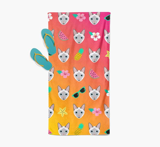 'Tropical Pattern' - Personalized Siamese Towel