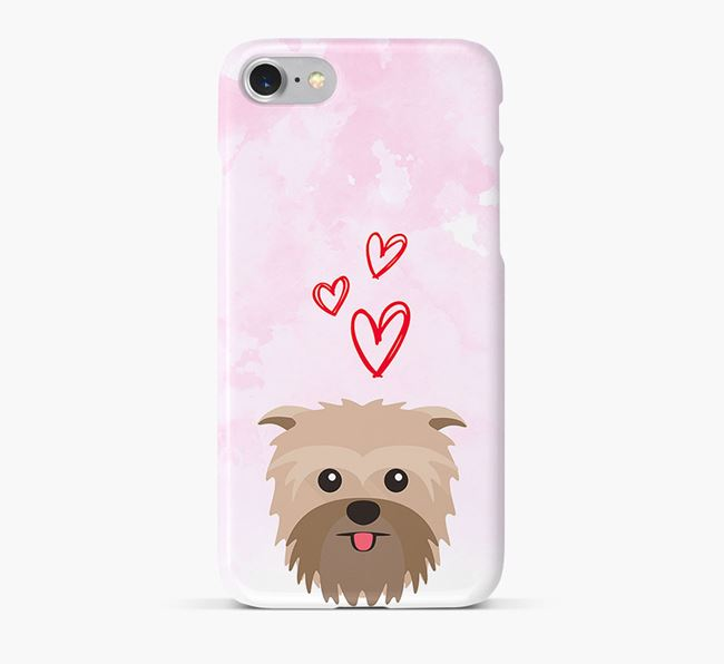 Phone Case with Affie Icon & Hearts