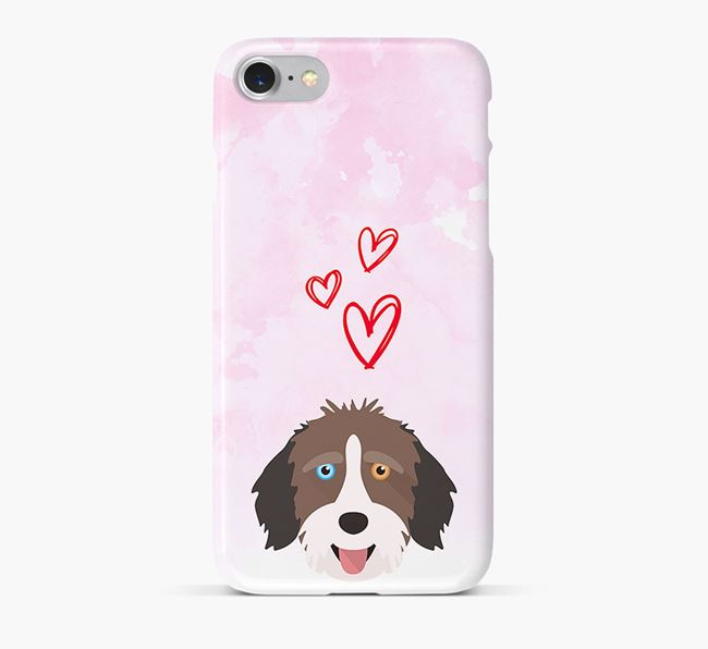 Phone Case with Aussiedoodle Icon & Hearts