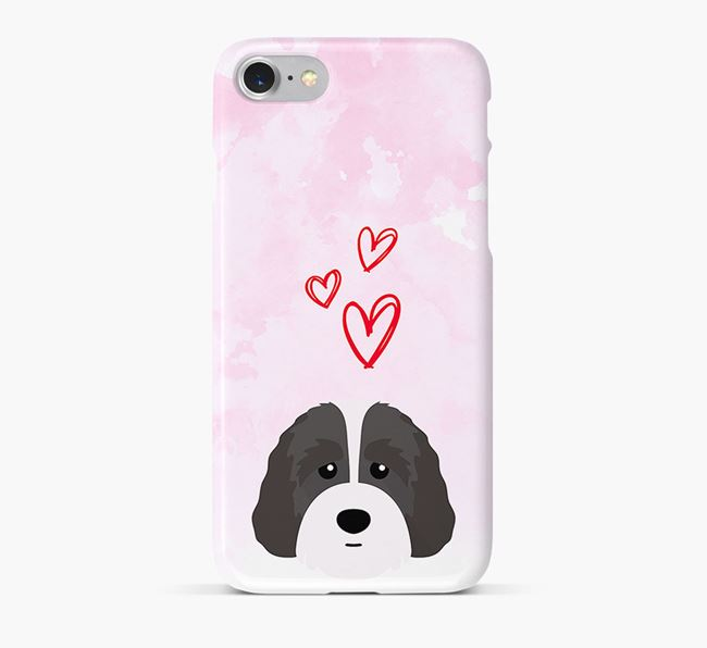Phone Case with Australian Labradoodle Icon & Hearts