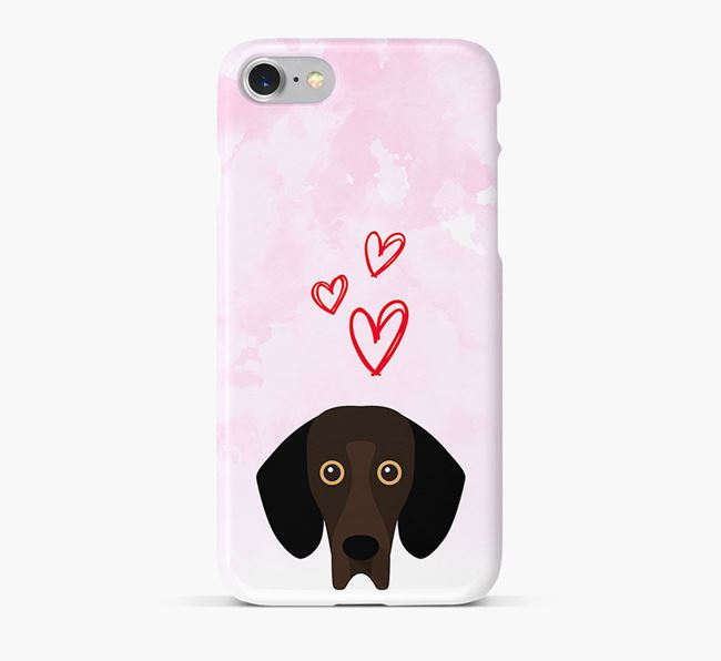 Phone Case with Bassador Icon & Hearts