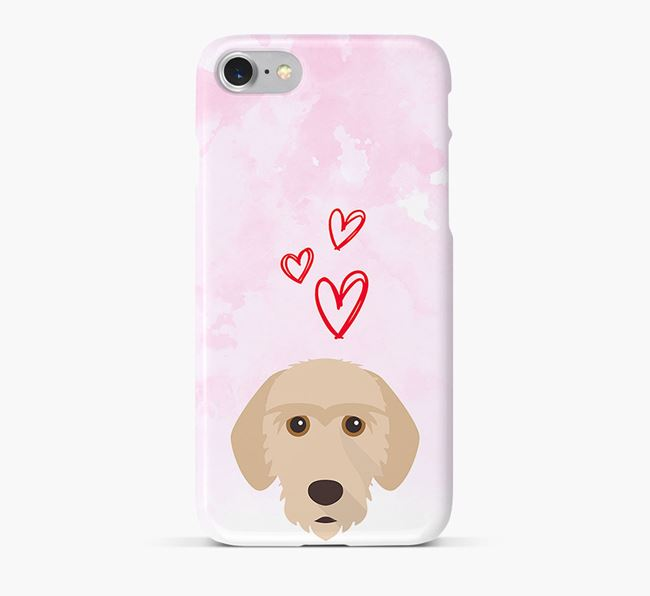 Phone Case with Basset Fauve Icon & Hearts