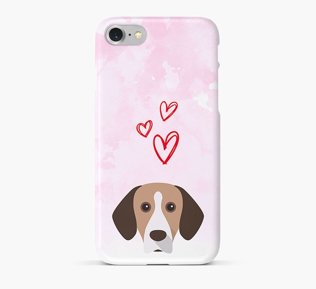 Phone Case with Mountain Hound Icon & Hearts