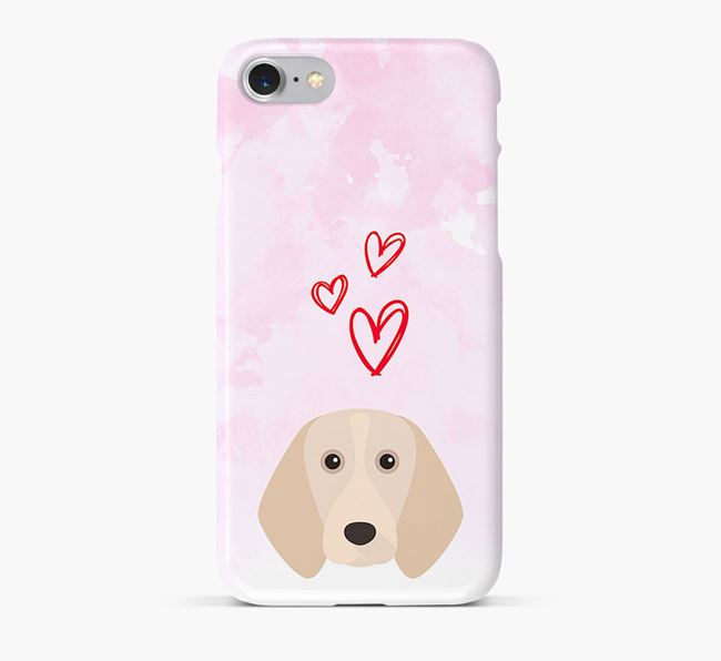 Phone Case with Beagle Icon & Hearts