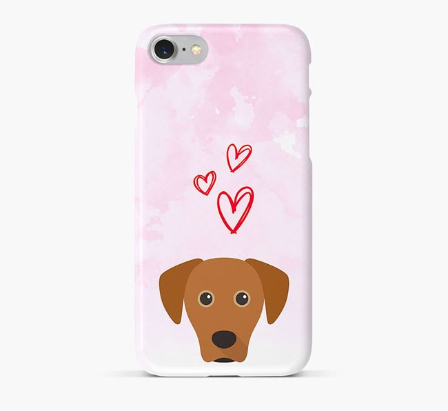 Phone Case with Blue Lacy Icon & Hearts