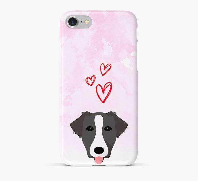 Phone Case with Borador Icon & Hearts