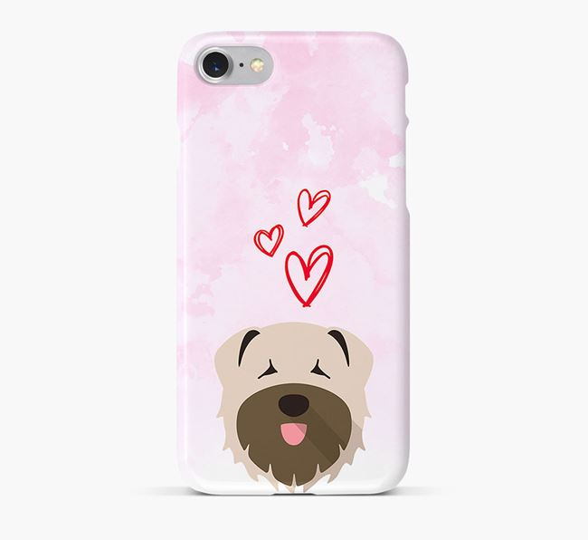 Phone Case with Bouvier Des Flandres Icon & Hearts