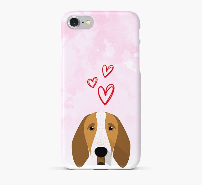 Phone Case with Bracco Icon & Hearts