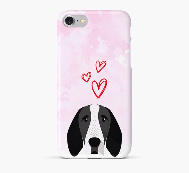 Phone Case with Auvergne Icon & Hearts