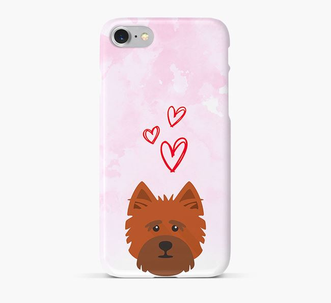 Phone Case with Cairn Terrier Icon & Hearts
