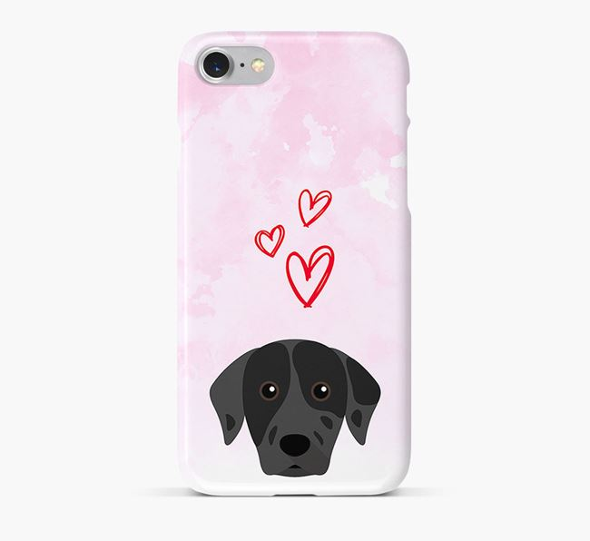 Phone Case with Catahoula Icon & Hearts