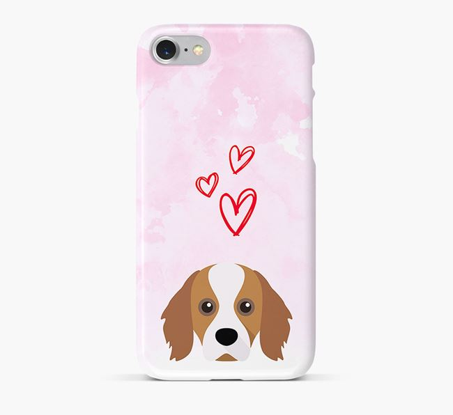 Phone Case with Cavapom Icon & Hearts